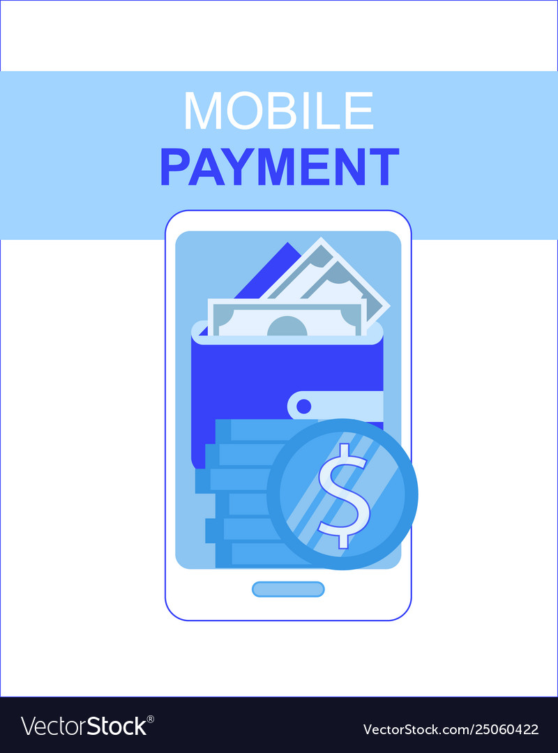 Mobile phone payment app with money wallet screen