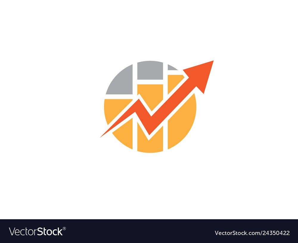 Shape and chart bar arrow for statistics and