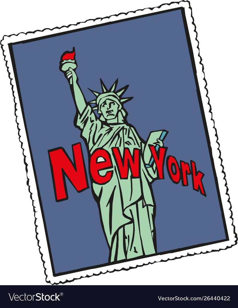 Statue liberty new york city banner