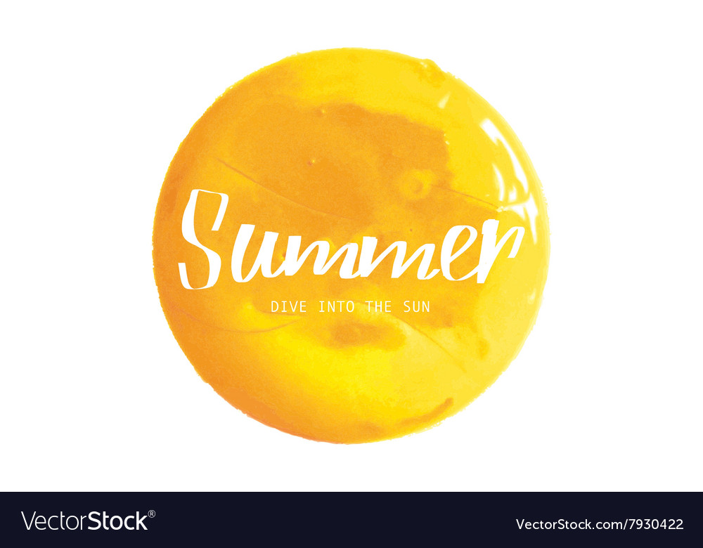 Yellow watercolor banner vector image