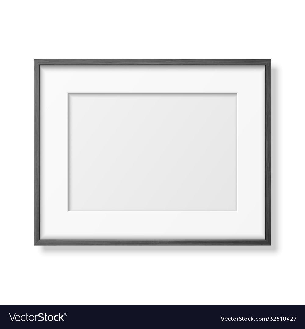 3d realistic horizontal black wooden simple