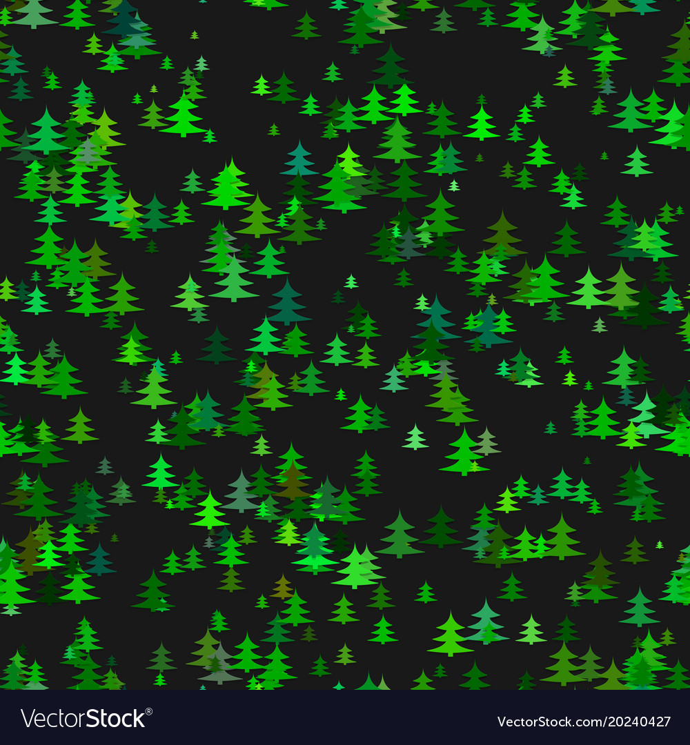 Abstract stylized chaotic pine tree background