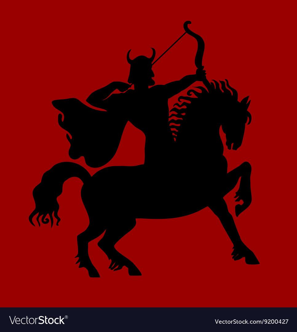 Archer rider horse