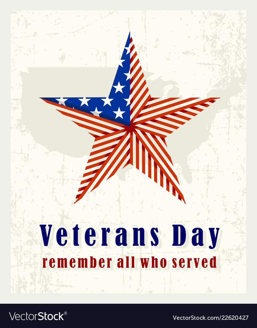 Beautiful vintage poster for veterans day with