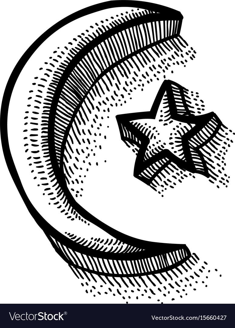 Cartoon Image Of Islam Symbol Royalty Free Vector Image