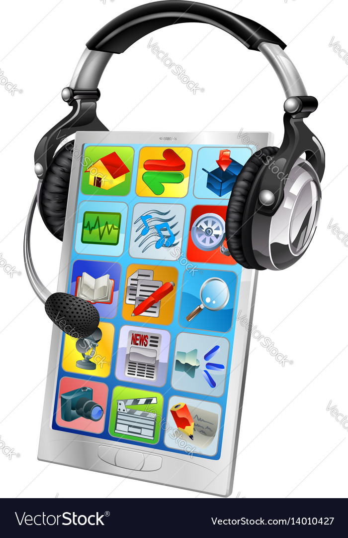 Cell phone chat support concept vector image