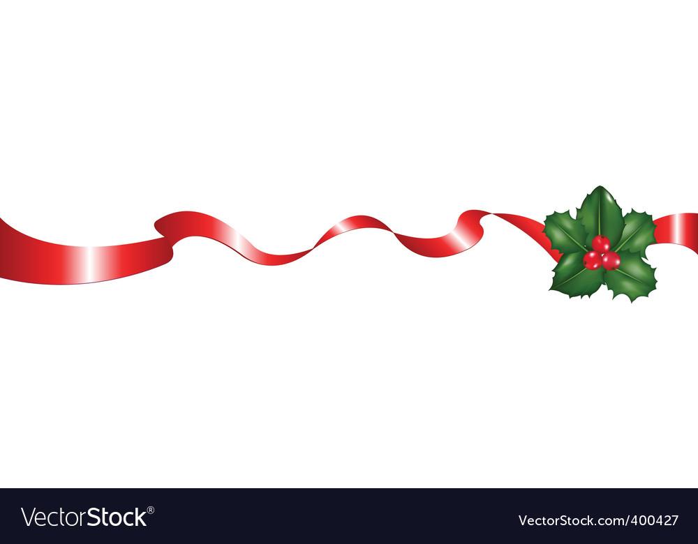 christmas ribbon royalty free vector image vectorstock