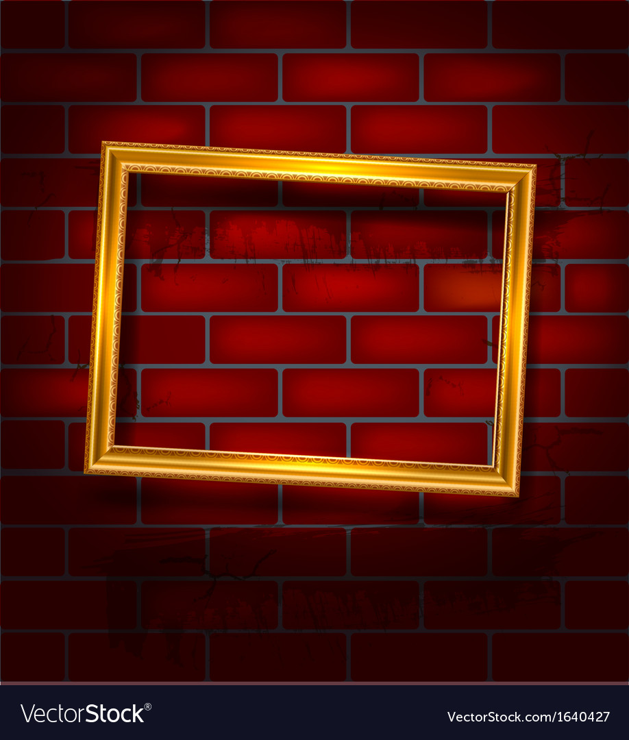 Frame on the red brick wall