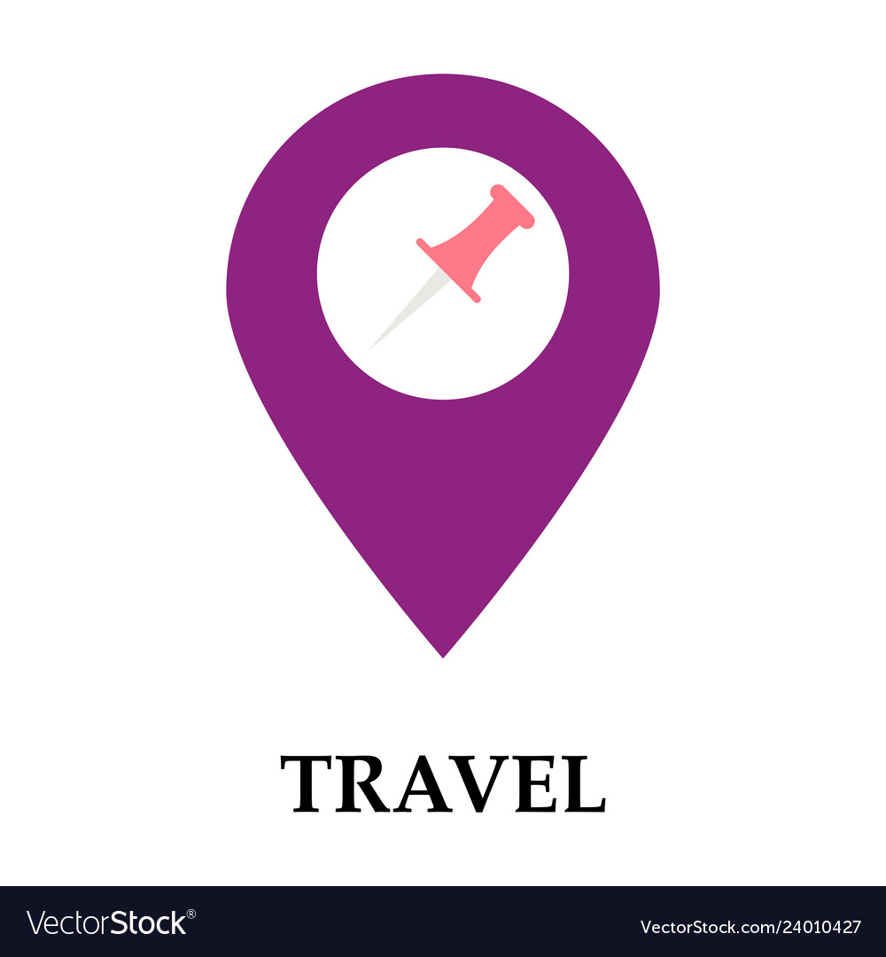 Location icon pin sign isolated on white