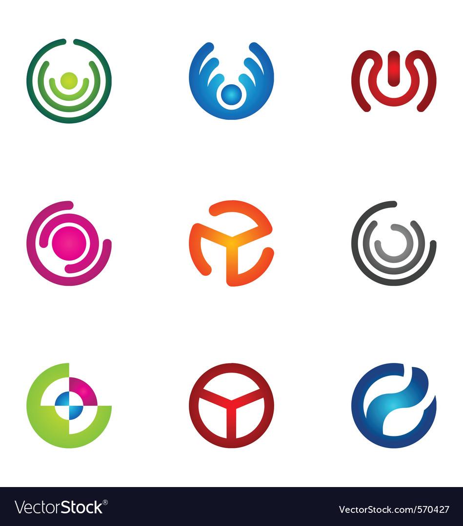 Logo design elements set 69