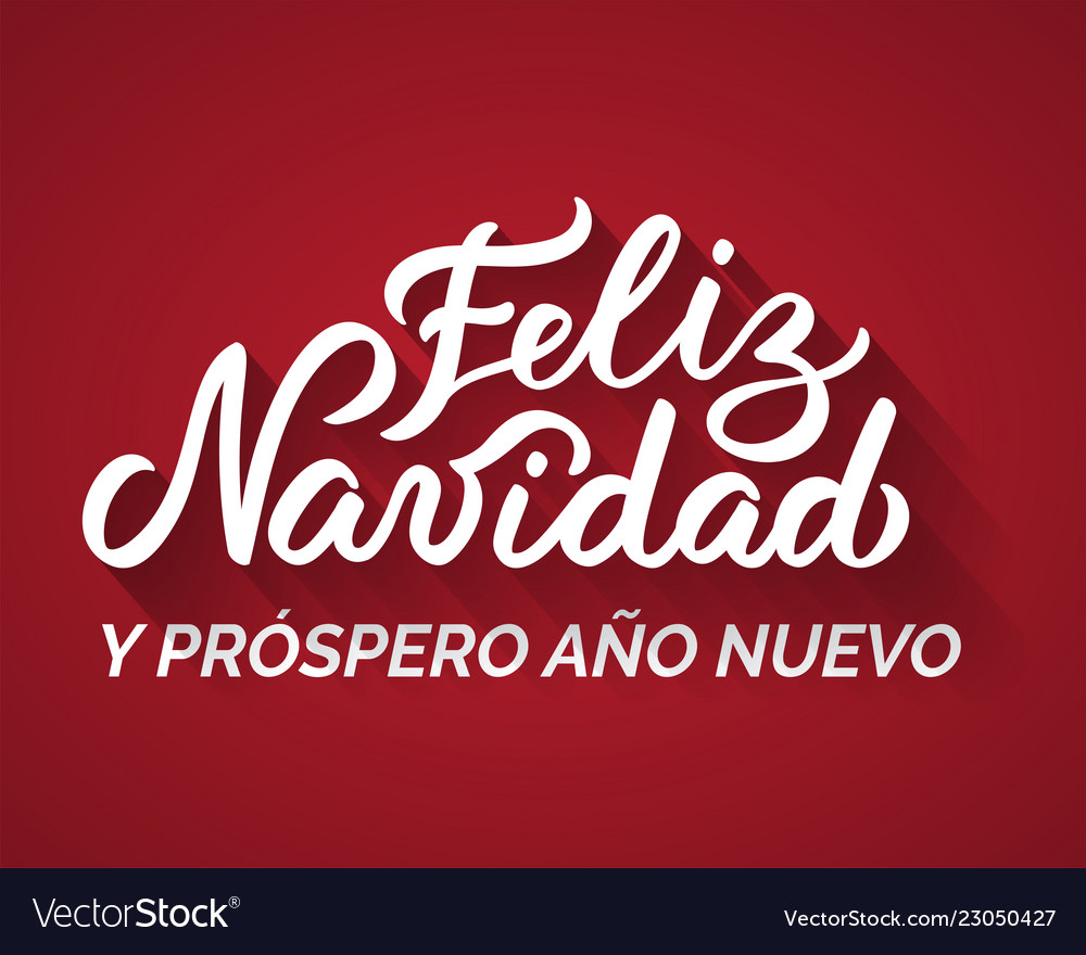 merry christmas and a happy new year from spanish vector image