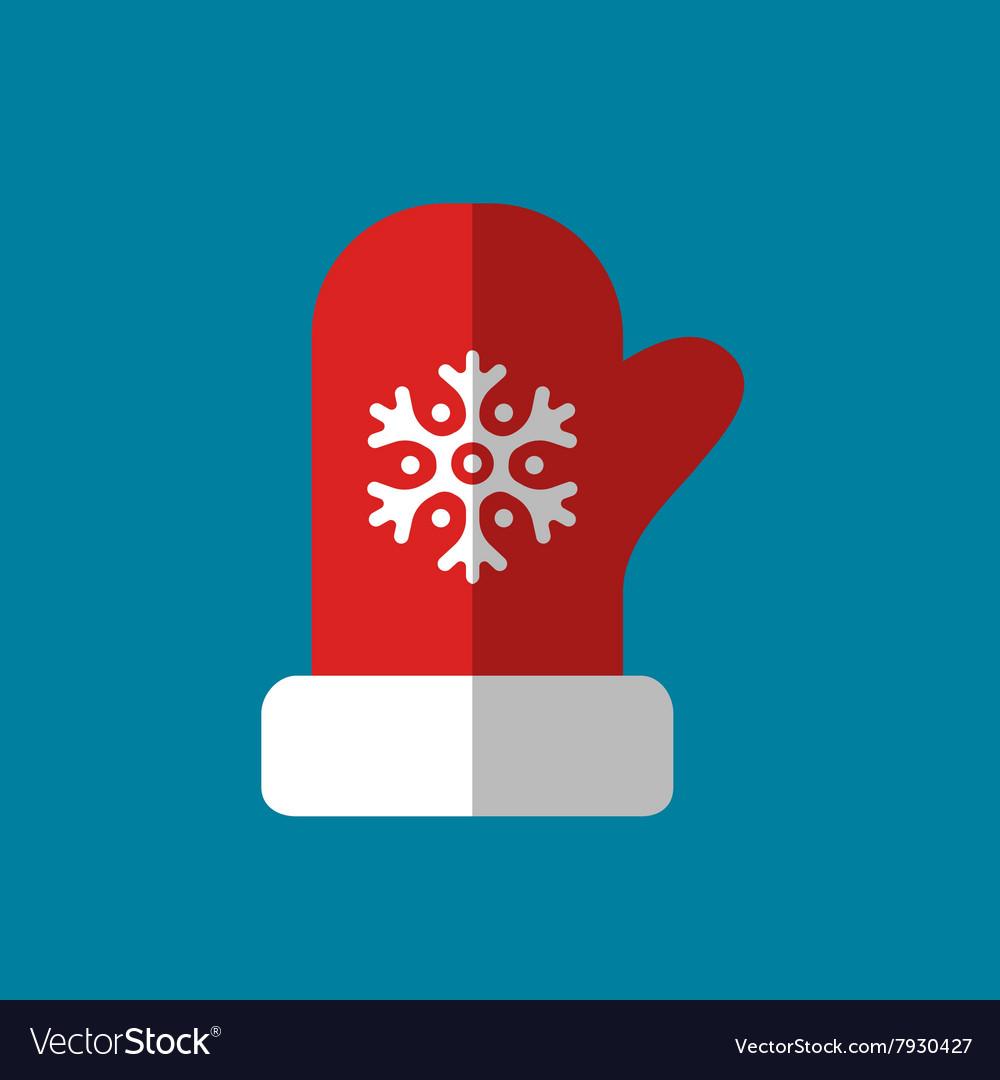 Red mitten icon logo