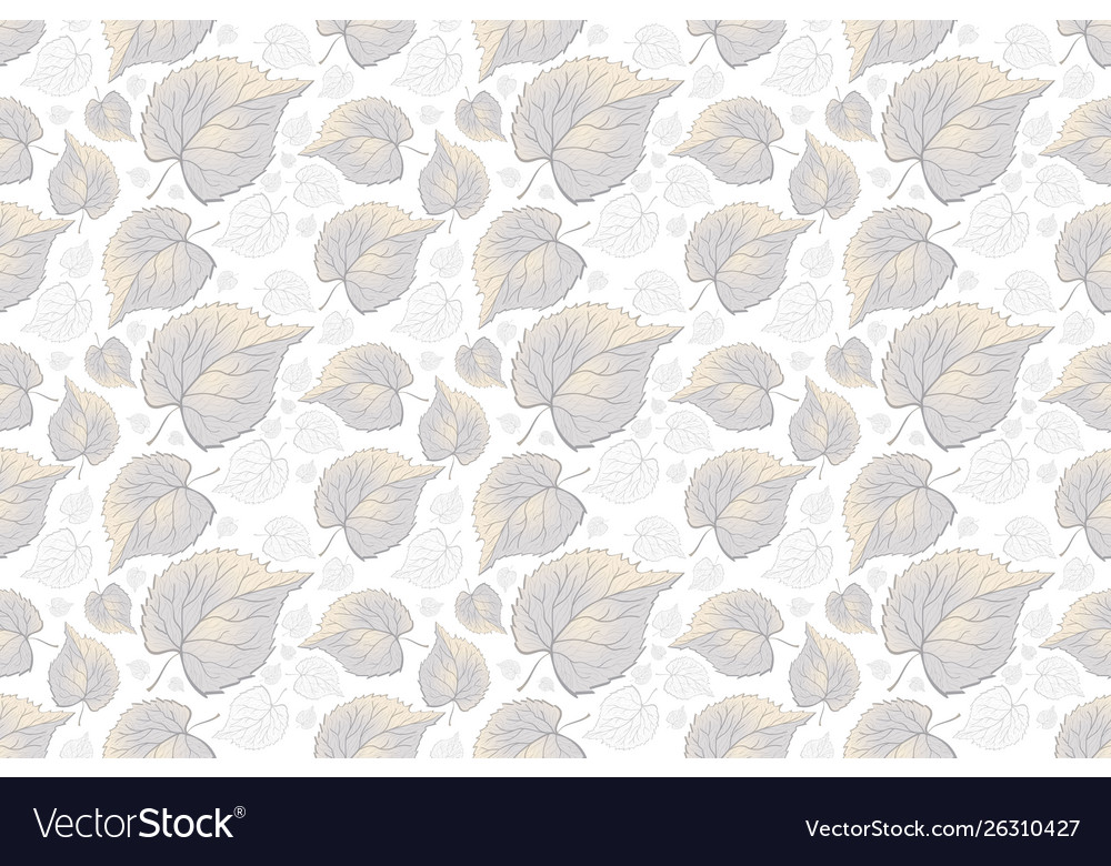Seamless pattern leaves on white background