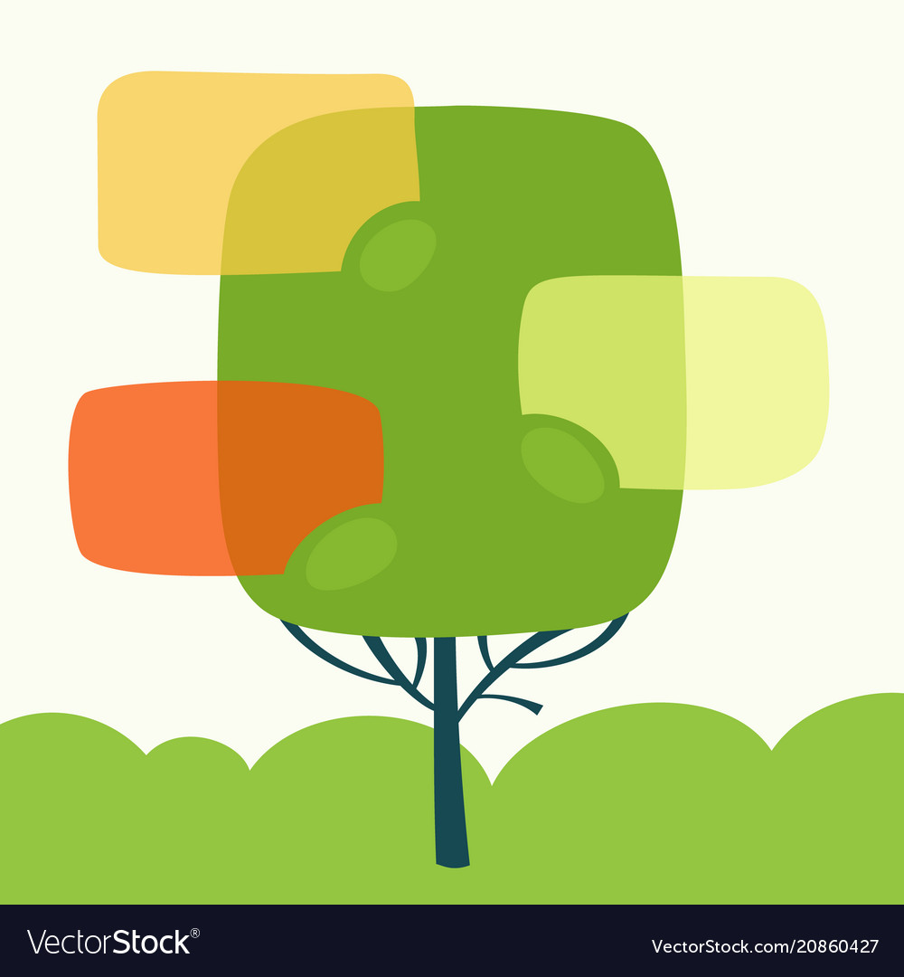 Set of speech bubble with tree vector image