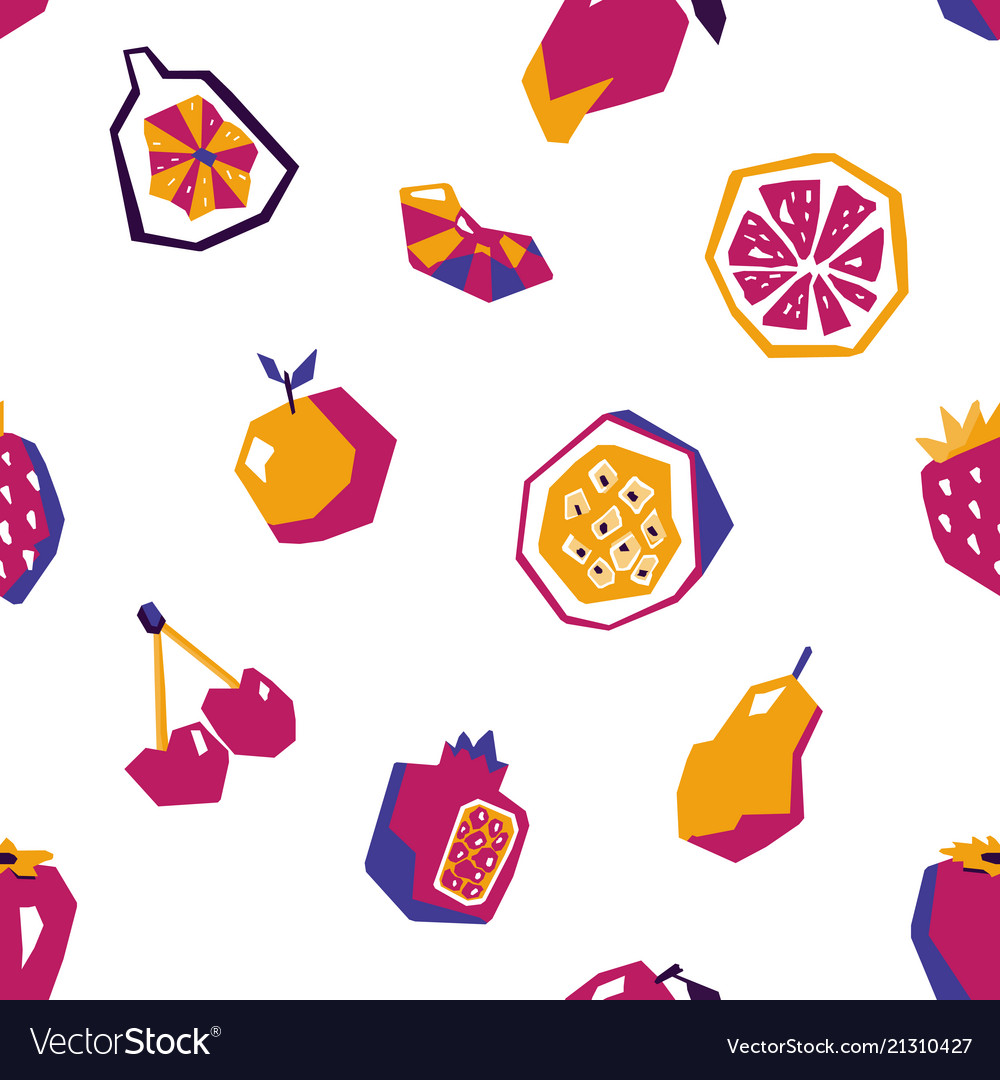 Sweet fruit abstract seamless pattern