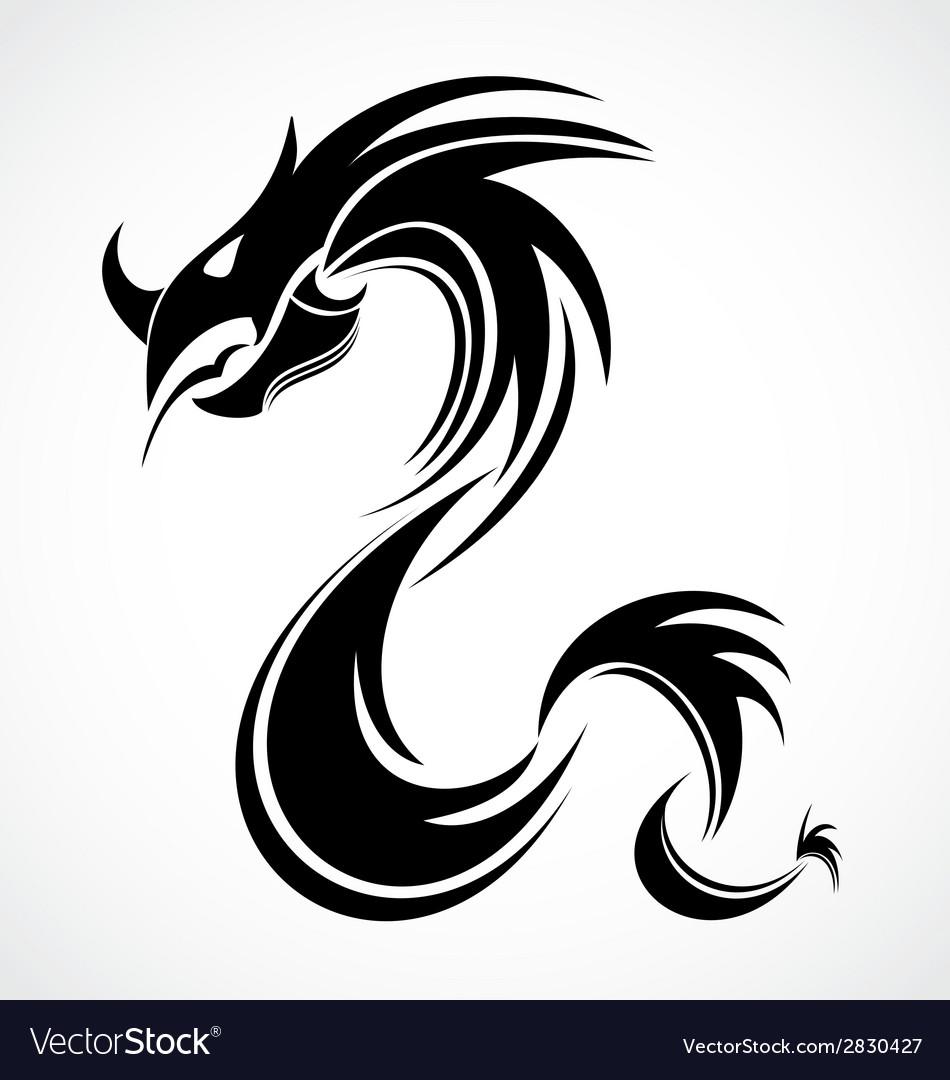 tribal dragon royalty free vector image vectorstock
