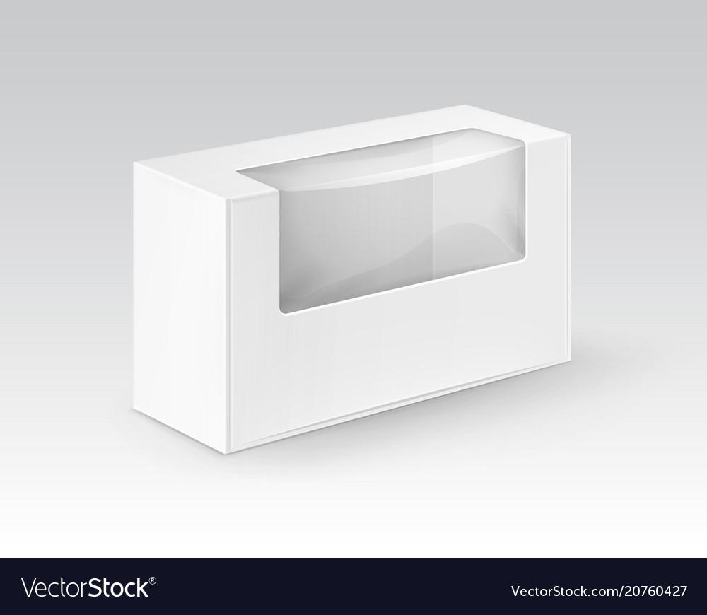 White blank cardboard rectangle take away