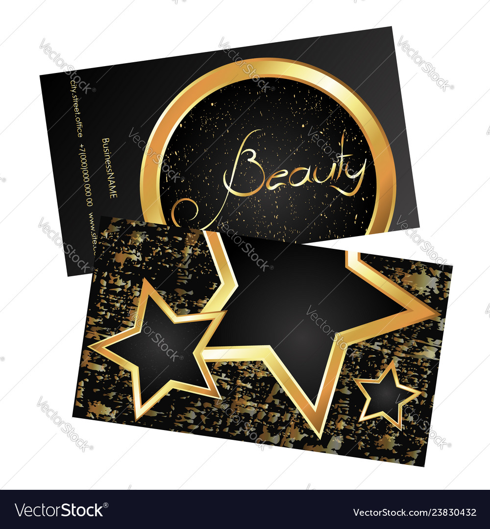 Business card beauty gold