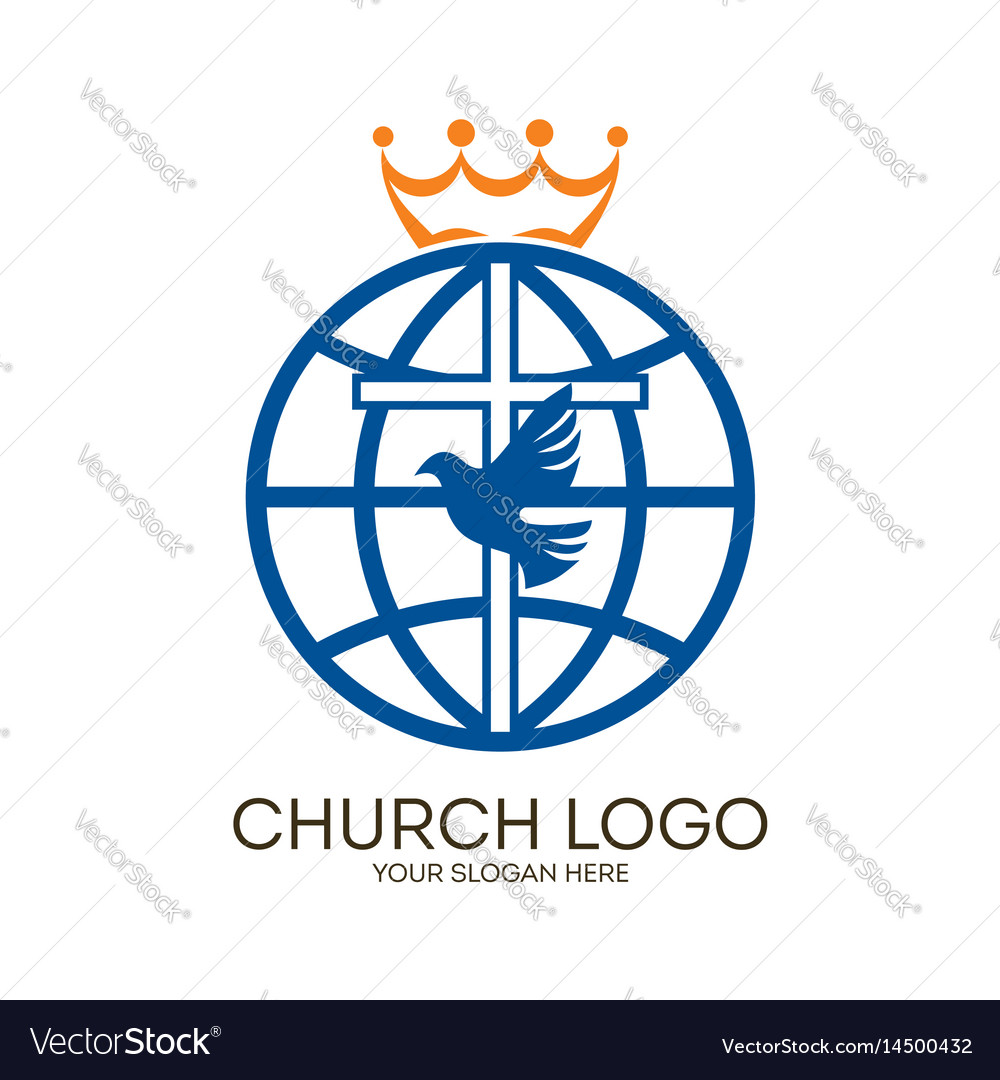 Cross dove and globe royalty free vector image cross dove and globe vector image altavistaventures Choice Image