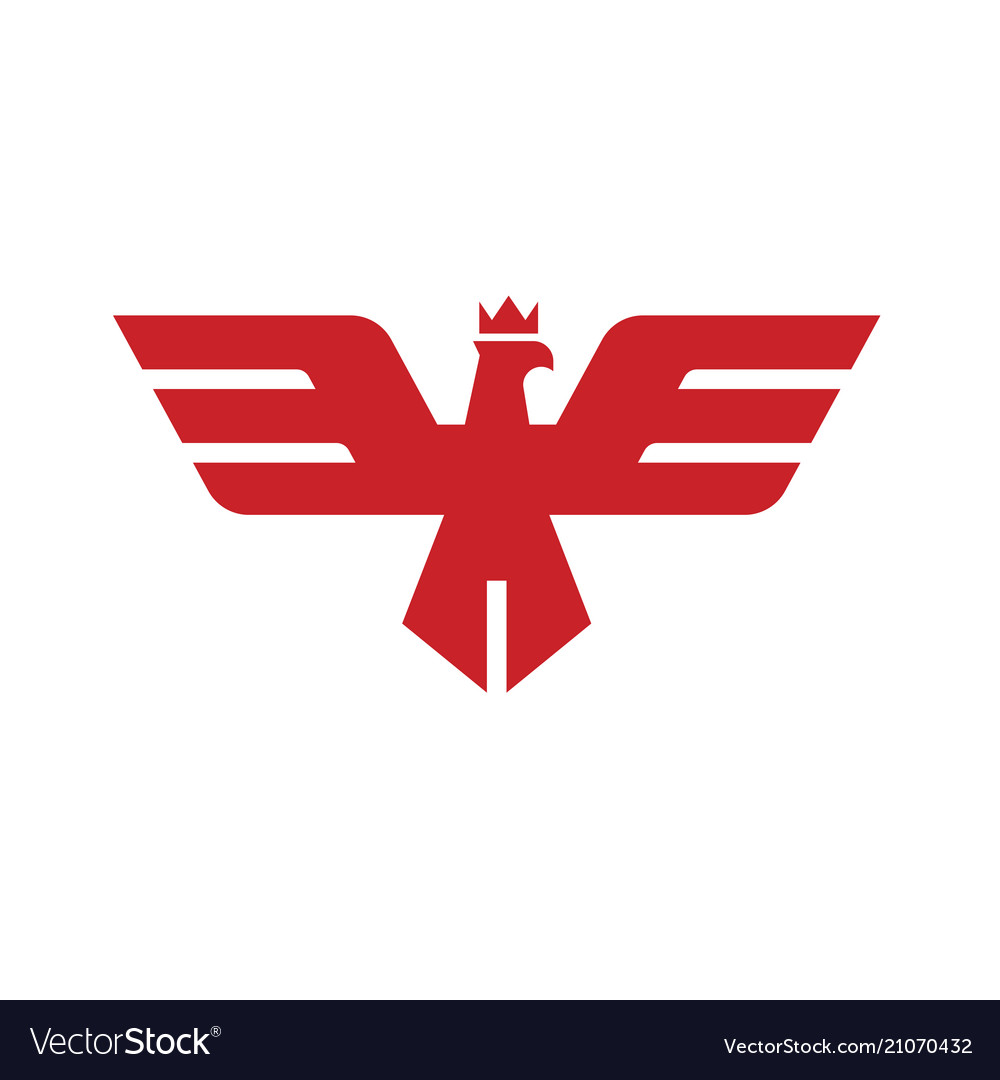 Eagle head with crown logo template