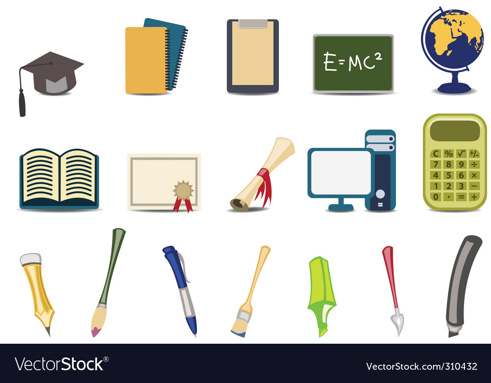 Educational icons vector image