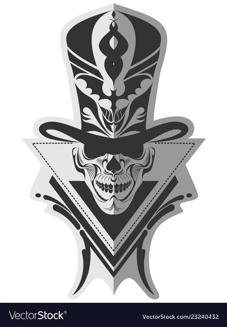 Memorable skull design art