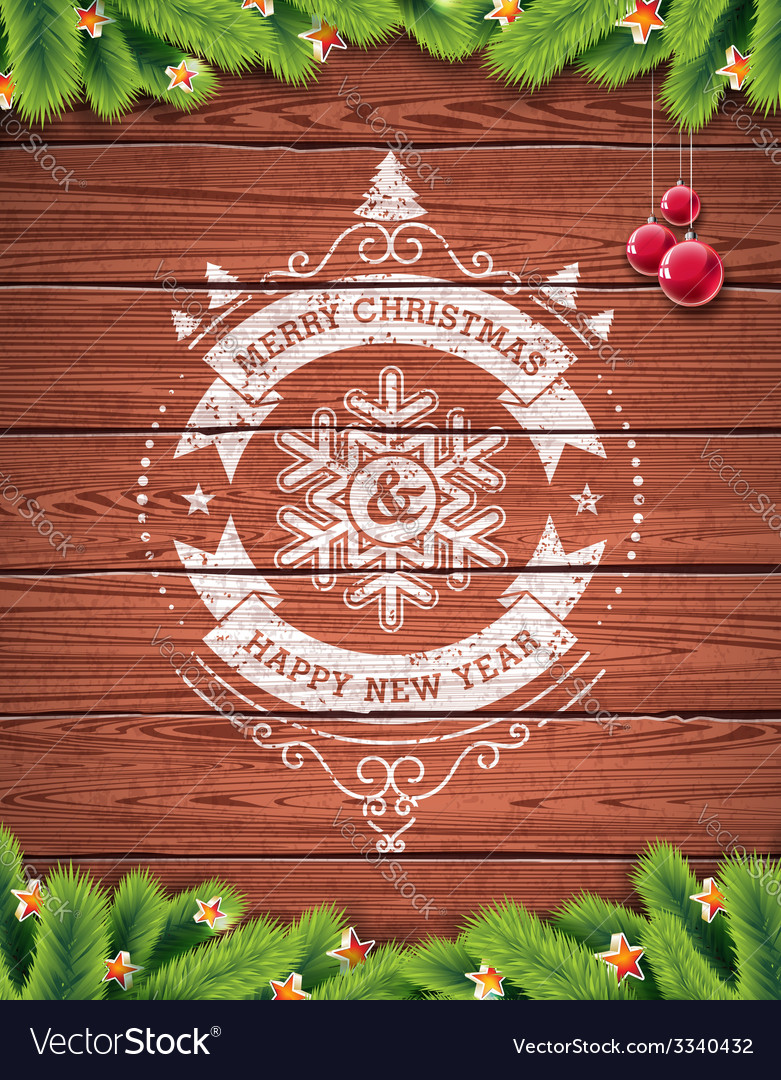 Painted vintage Merry Christmas typographic design