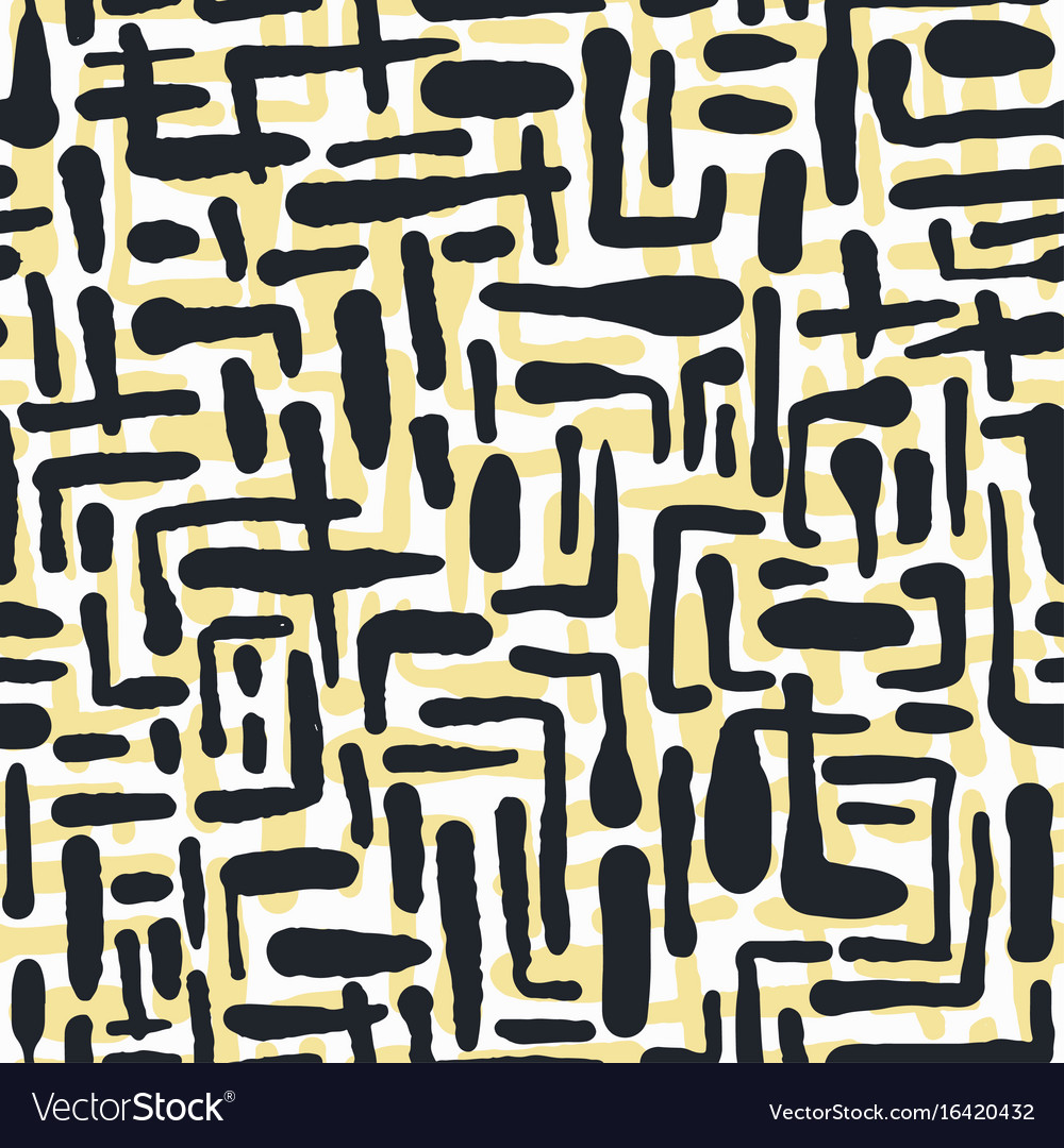 Seamless repeating textile ink brush strokes