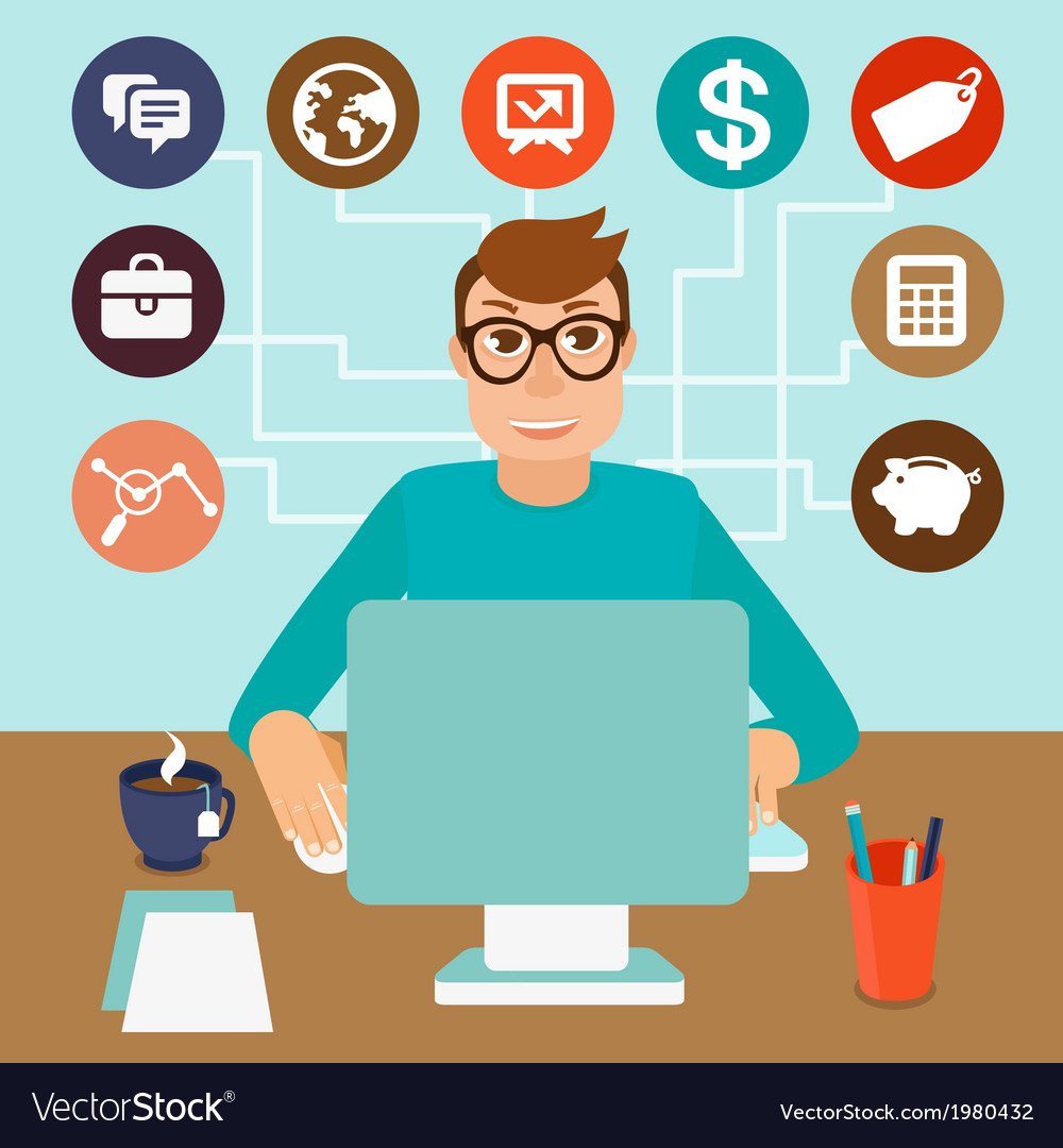 Self employed vector image