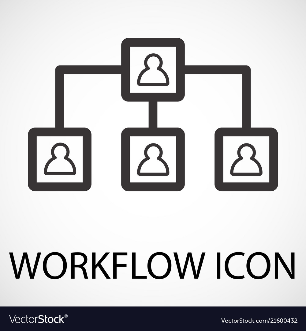 Simple workflow line art icon