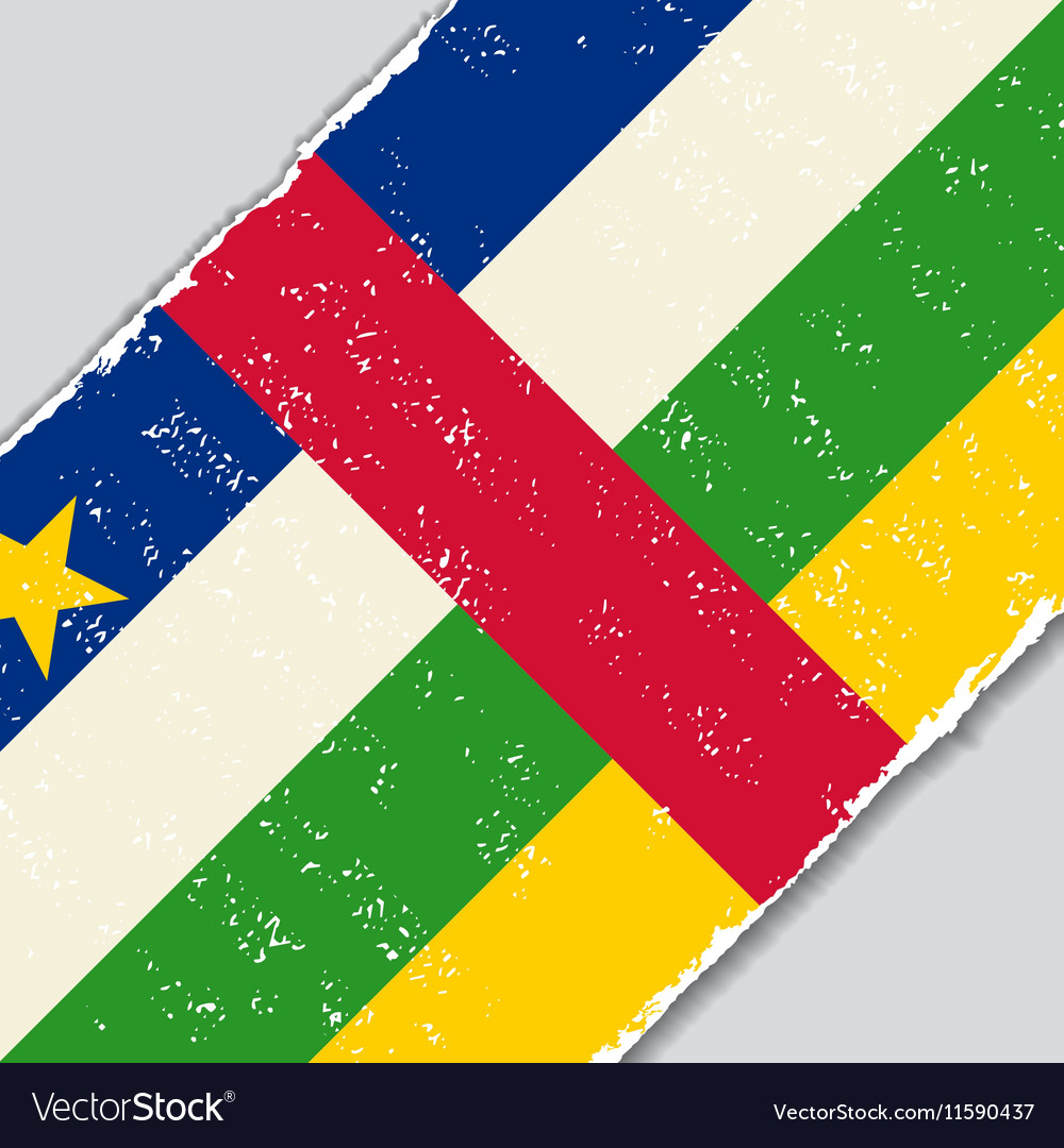 Central African Republic grunge flag vector image