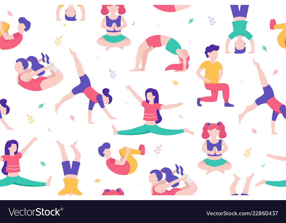 Children doing activities and sports in flat