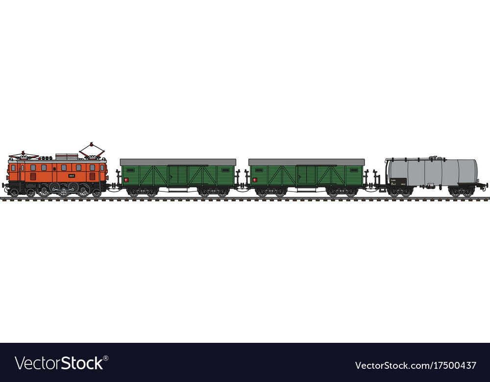 Classic electric freight train