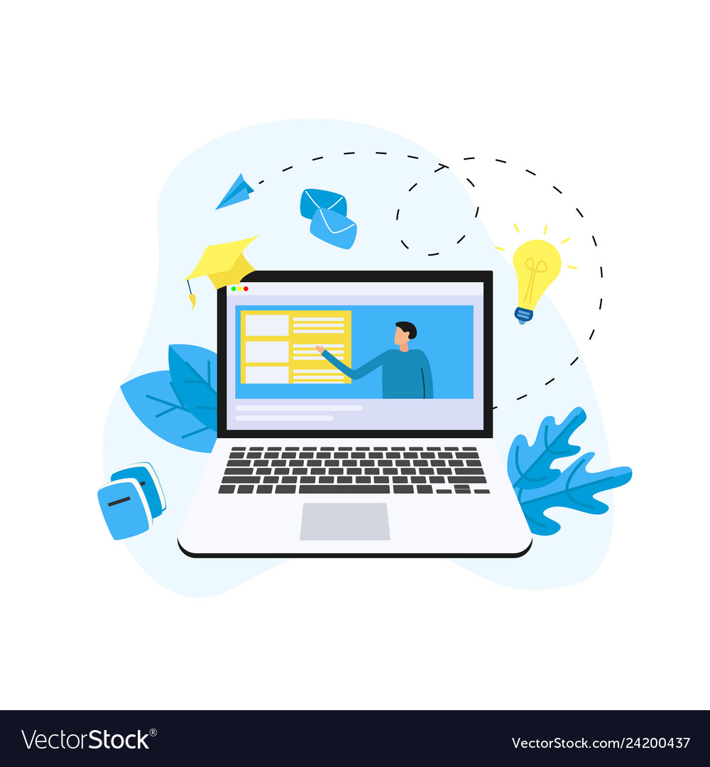 E Learning Concept Royalty Free Vector Image Vectorstock