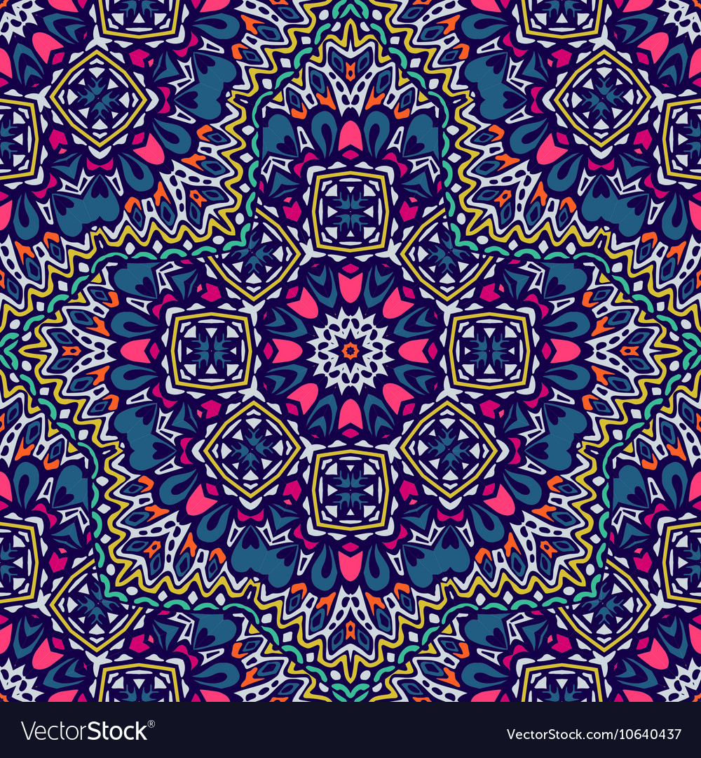Floral seamless pattern doodle graphic