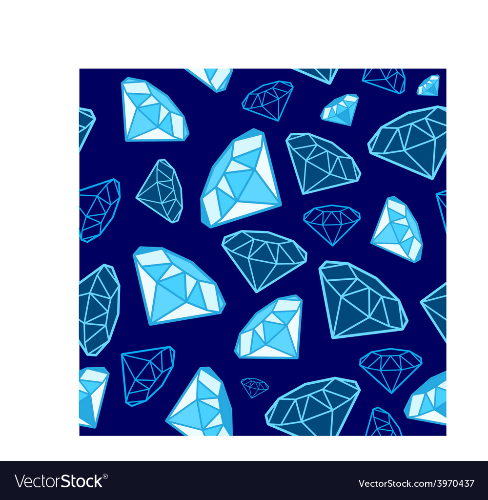 Glamour fashion diamond vector image
