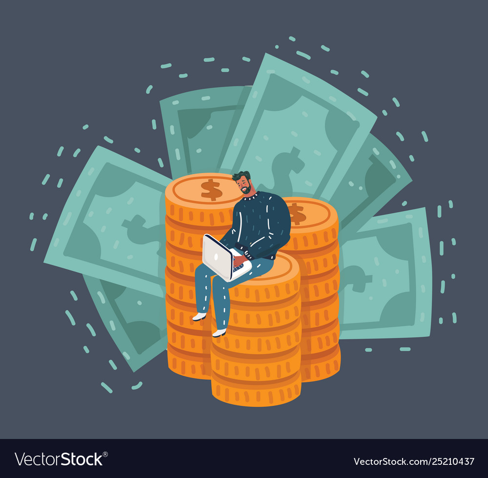 Man is surprised to see money