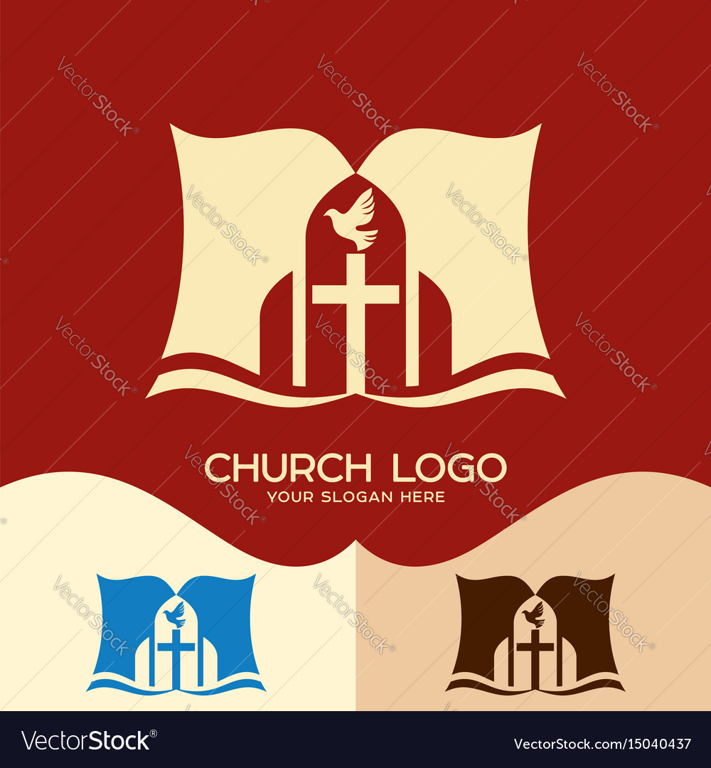 The cross of jesus the open bible and the dove vector image thecheapjerseys Images