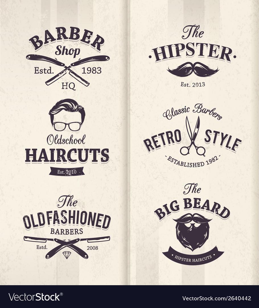 Barber Shop Emblems 1