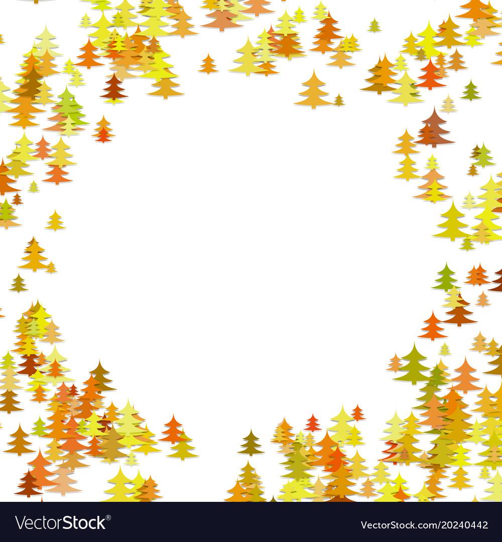 Random pine tree forest pattern background vector image