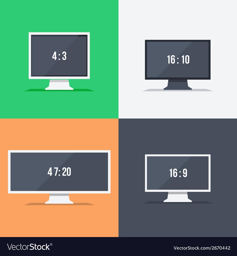 Responsive web design on different monitors