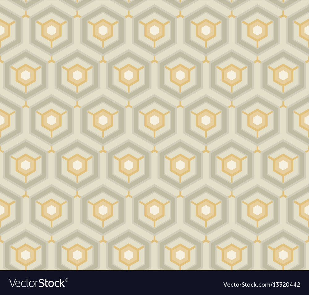 Retro wallpaper vintage pattern vector image