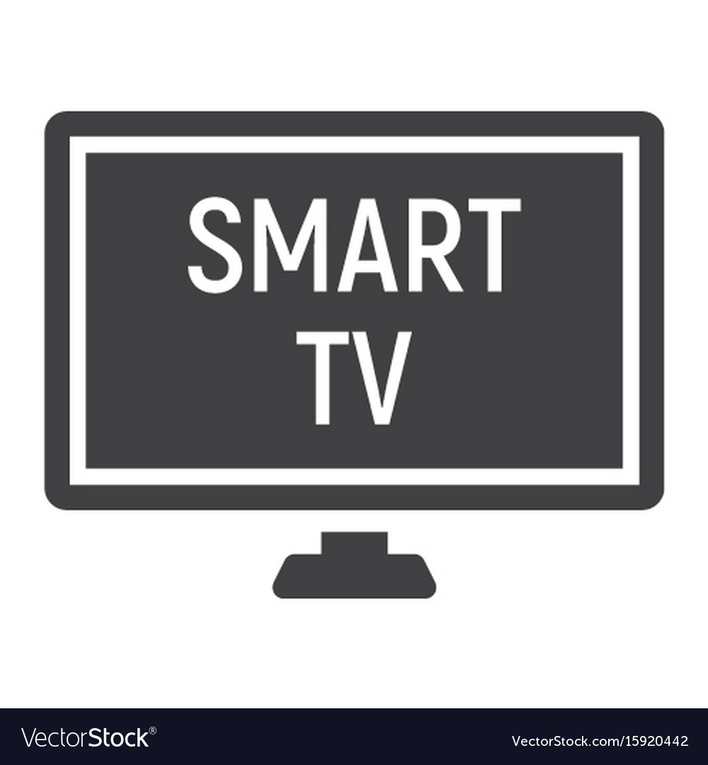 Smart tv solid icon household and appliance