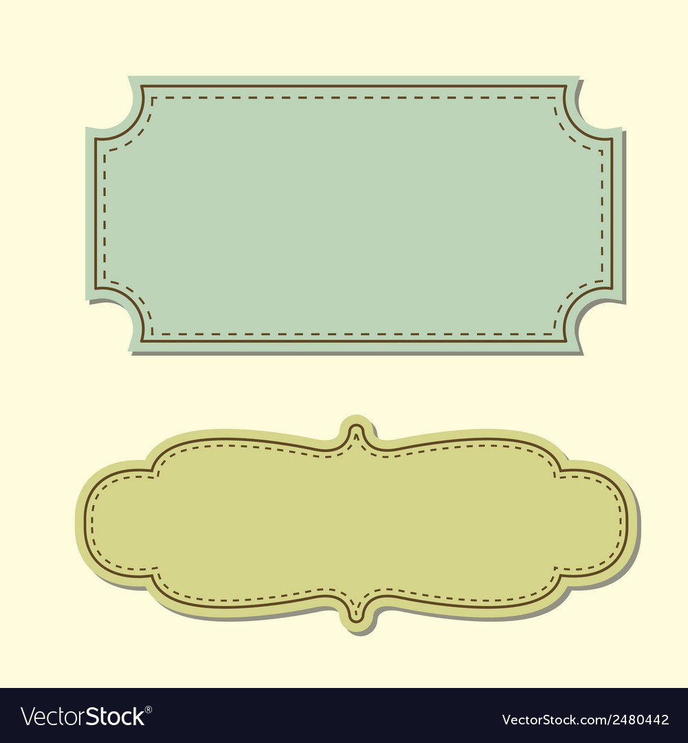 Vintage tag background Royalty Free Vector Image