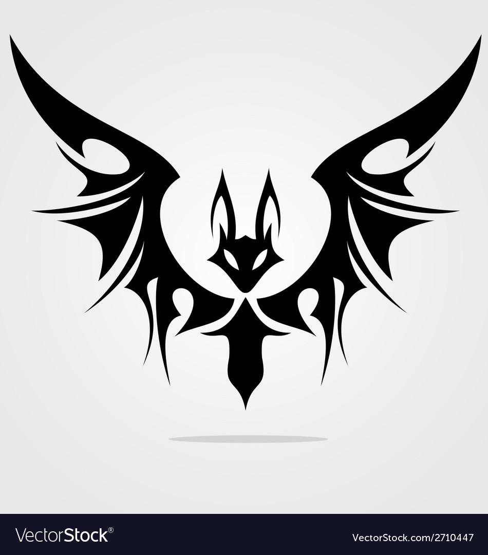 0774f7756 Bat Tattoo Design Royalty Free Vector Image - VectorStock