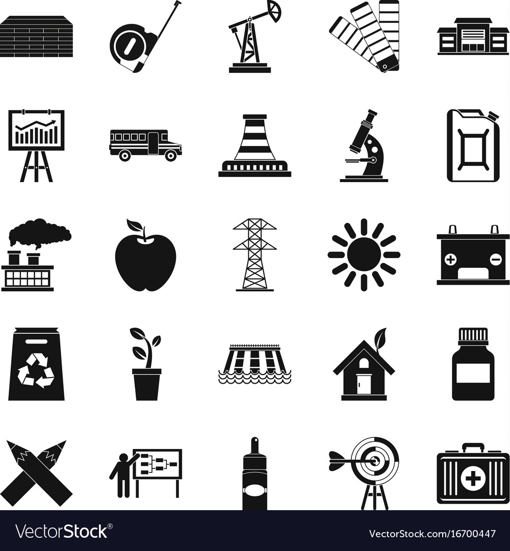 Charge icons set simple style vector image