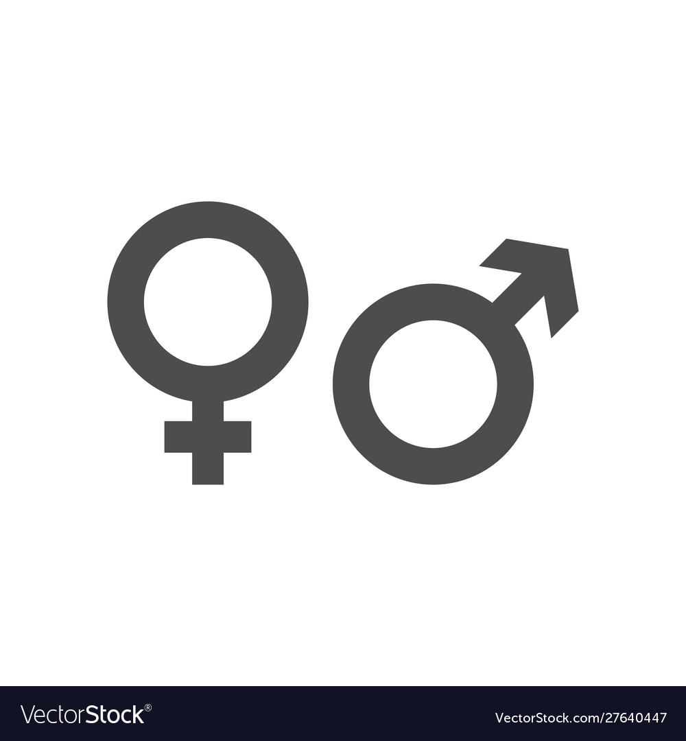 Gender icon and male female symbol