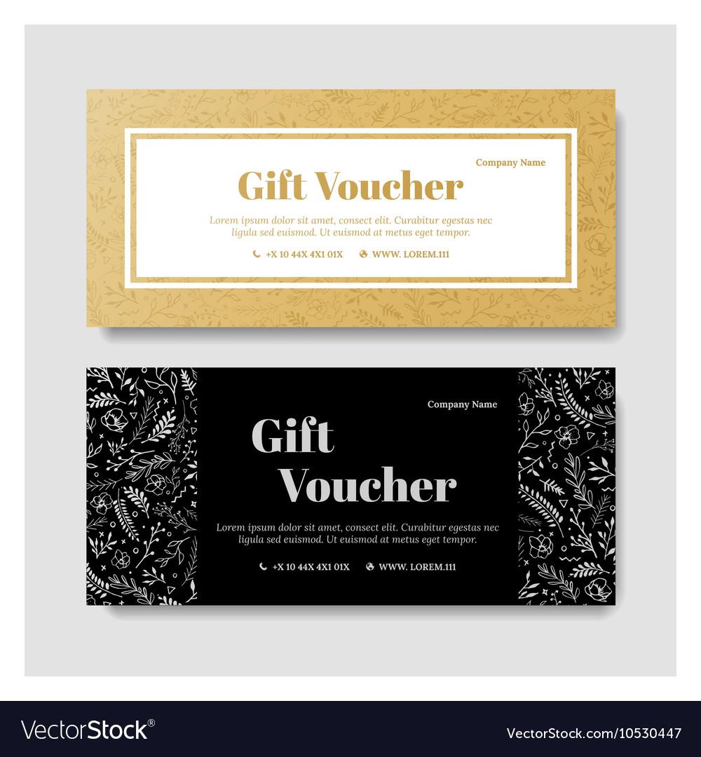 Gift premium voucher coupon template