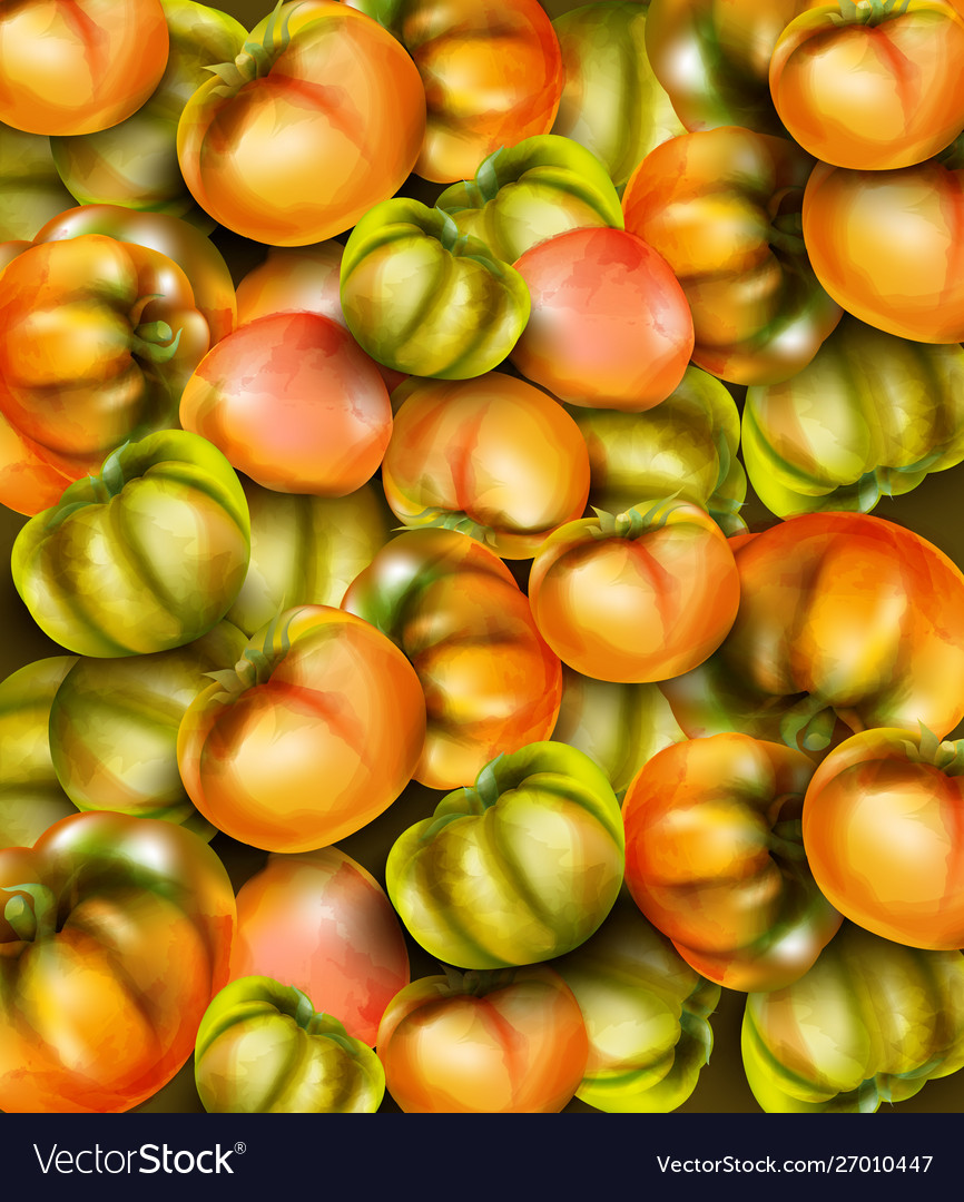 Green tomatoes watercolor grocery harvest fresh
