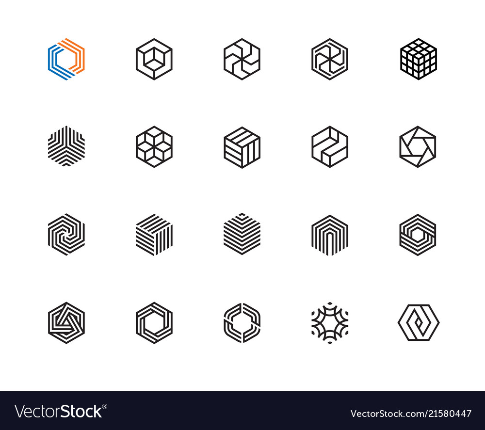 Hexagon icons
